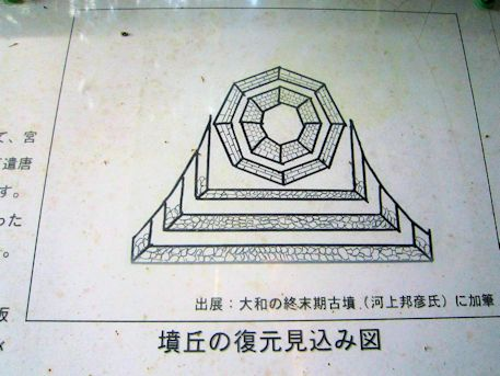 段ノ塚古墳墳丘の復元見込み図