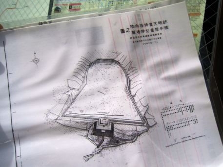 舒明天皇陵の地図