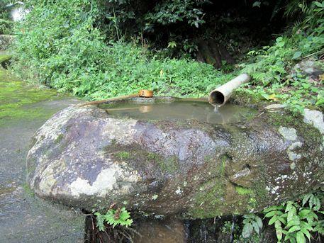 舒明天皇陵の手水