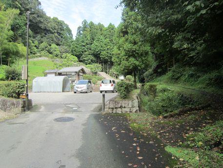 段ノ塚古墳の駐車場