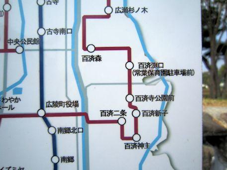 百済寺周辺のバス路線図