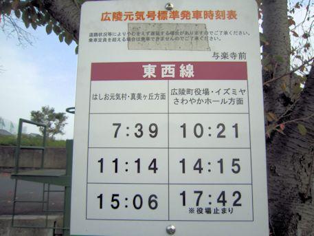与楽寺前のバス時刻表