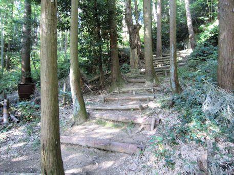 東乗鞍古墳の階段