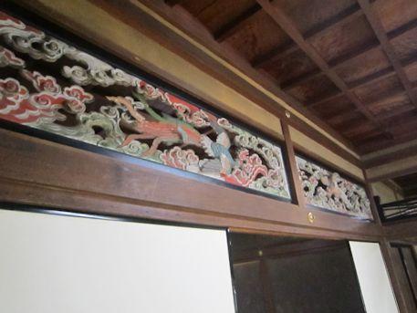 大書院の欄間彫刻