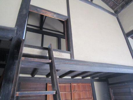 旧米谷家住宅の梯子