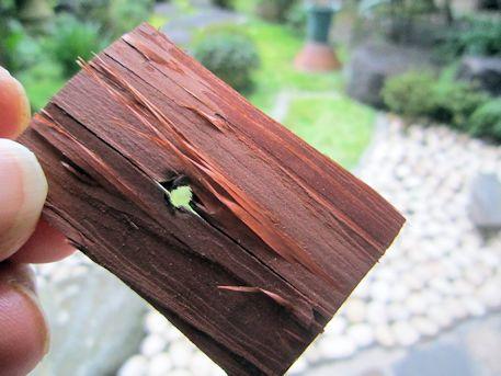 橿原神宮本殿屋根の檜皮古材