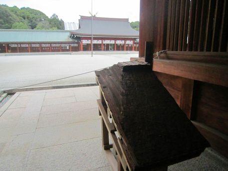 橿原神宮の檜皮
