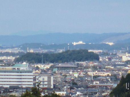 箸墓古墳と若草山