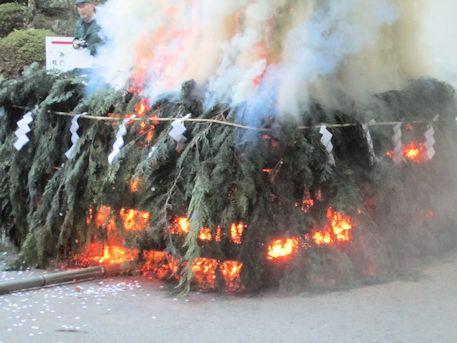 お火焚祭の火床