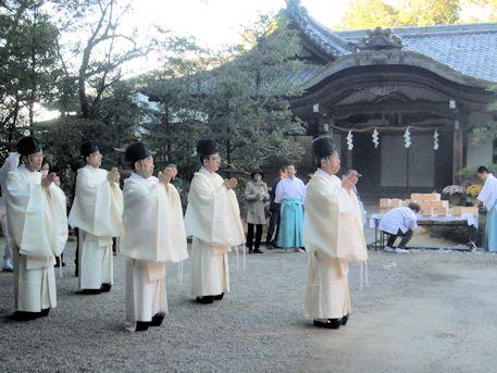 石上神宮のお火焚祭