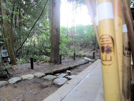三輪山登山の杖
