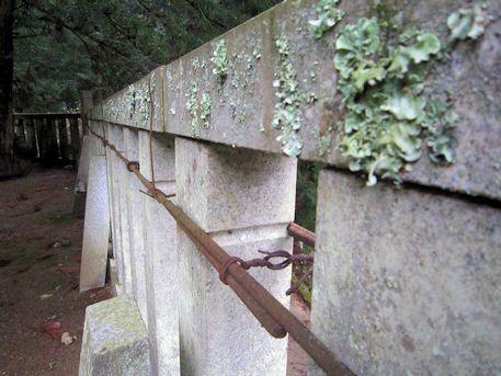瑞垣の補修跡