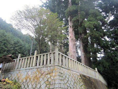 天一神社の石垣