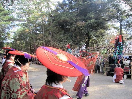 田楽座の笠