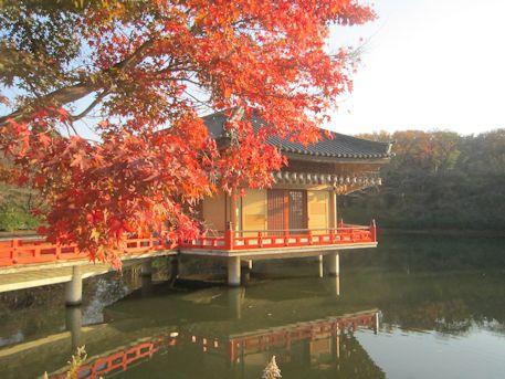 紅葉と仲麻呂堂