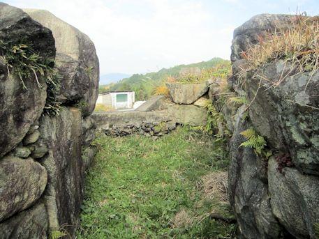 平野古墳の奥壁