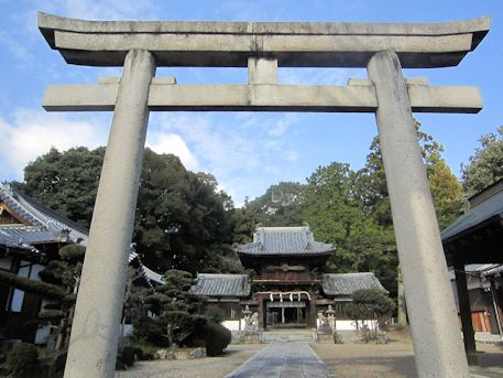 矢田坐久志玉比古神社一の鳥居