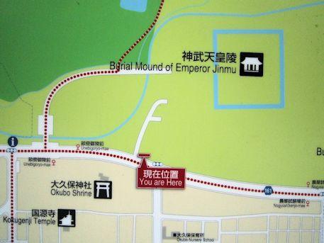 神武天皇陵周辺地図