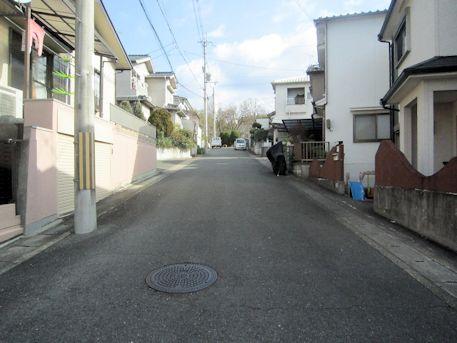 赤土山古墳のアクセス道