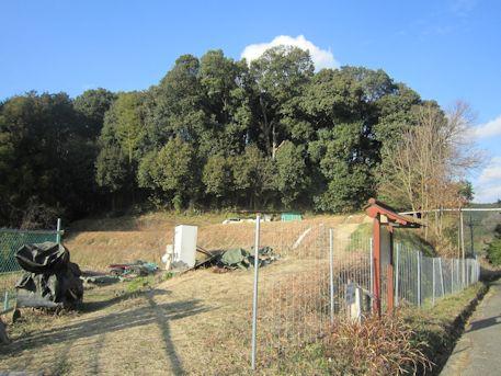 赤坂天王山古墳の墳丘