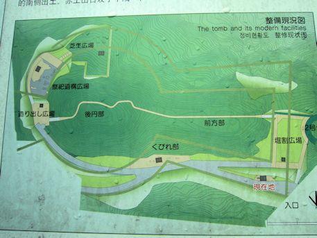 赤土山古墳の地図