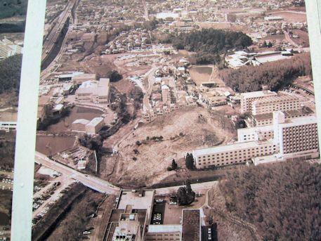 赤土山古墳の航空写真