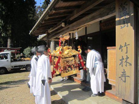 笠山三宝荒神大祭の神輿