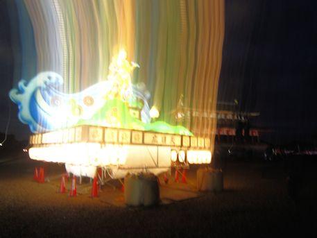 花火撮影の広目天