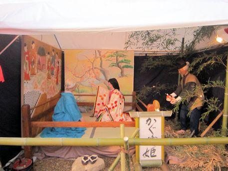 かぐや姫の立山展示