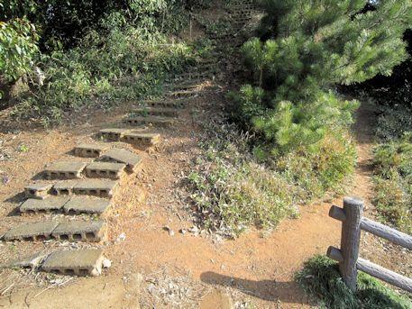 珠城山古墳1号墳石室のアクセス道