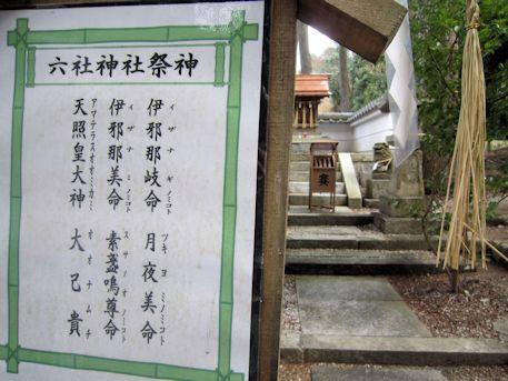六社神社の御祭神