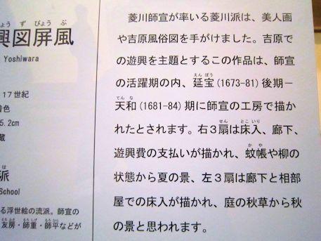 吉原遊興図屏風の解説