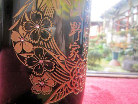 婚礼彫刻ボトルの桜