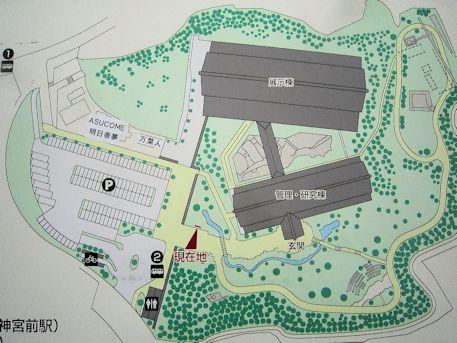 奈良県立万葉文化館の見取図