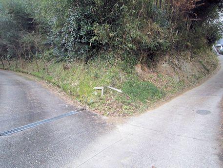 南淵請安墓のアクセス道