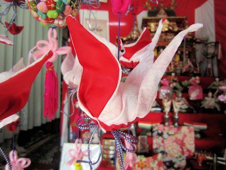鶴の吊るし雛