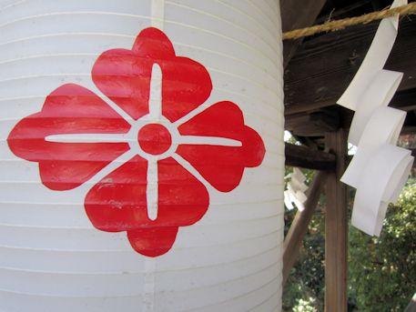 柳沢神社の花菱紋