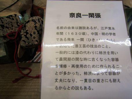 奈良一閑張の解説文