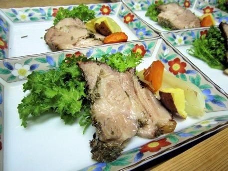 豚肉の香草焼き