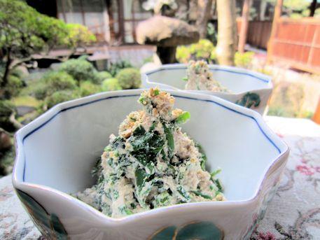 アスパラ菜の白和え