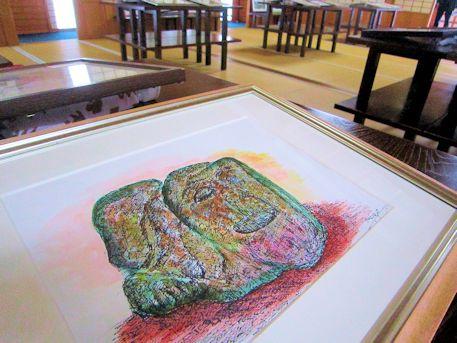 橘寺二面石の絵画