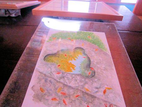 五重塔心礎の絵画