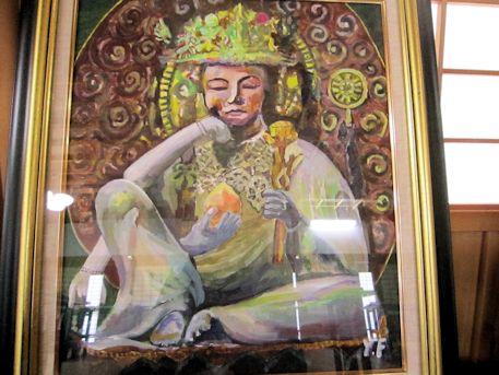 橘寺如意輪観音像の絵画