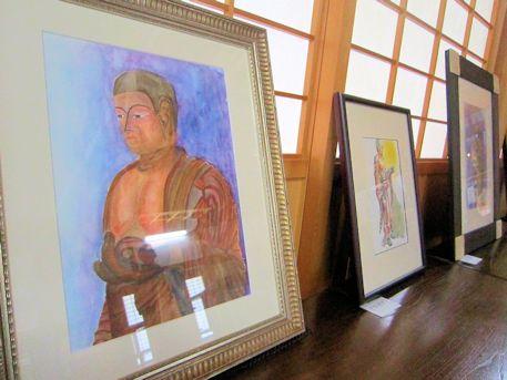 日羅立像の絵画