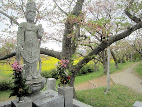 醍醐池脇の観音像