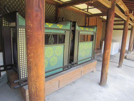 氷室神社の駕籠