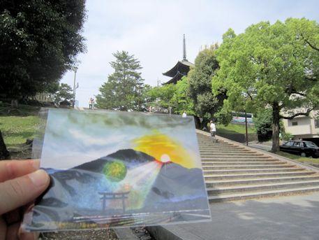 興福寺五十二段とポストカード