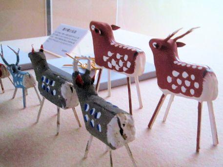 郷土玩具の張子鹿