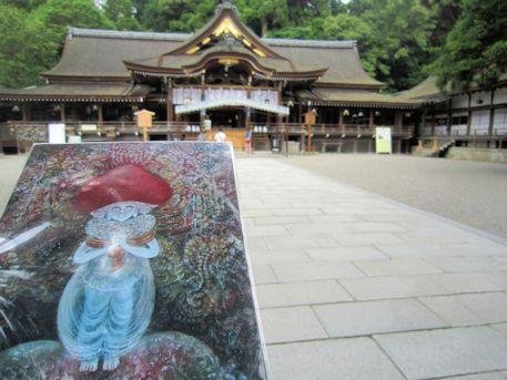大物主命と大神神社拝殿
