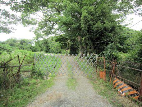 巣山古墳の入口